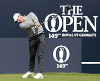 16th July 2021; Royal St Georges Golf Club, Sandwich, Kent, England; The Open Championship Tour Golf, Day Two; Rory McIlroy (NIR) hits his driver from the tee at the 1st hole