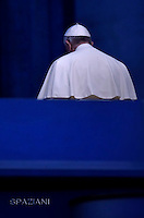 Pope Francis leads a prayer vigil on the occasion of the Jubilee of Divine Mercy at St Peter's square in Vatican.on April 2, 2016