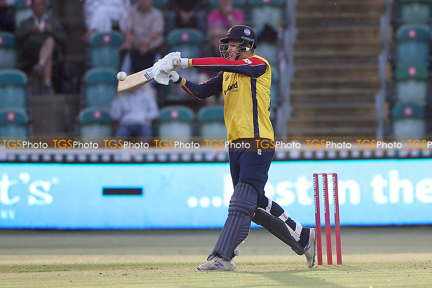 Michael Pepper hits 6 runs for  Essex during Somerset vs Essex Eagles, Vitality Blast T20 Cricket at The Cooper Associates County Ground on 9th June 2021