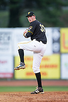 Bristol Pirates starting pitcher Marek Minarik (37) in action against the Johnson City Cardinals at Boyce Cox Field on July 7, 2015 in Bristol, Virginia.  The Cardinals defeated the Pirates 3-1 in game two of a double-header. (Brian Westerholt/Four Seam Images)