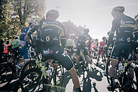 Team Orica-Scott ready for the 111th Il Lombardia 2017 from Bergamo to Como (ITA) 247km