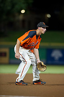 AZL Giants third baseman Jacob Gonzalez (52) on defense against the AZL Reds on August 12, 2017 at Scottsdale Stadium in Scottsdale, Arizona. AZL Giants defeated the AZL Reds 1-0. (Zachary Lucy/Four Seam Images)