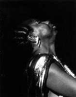 Nina Simone performing at Symphony Hall Boston, MA<br /> March 16, 1986