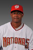14 March 2008: ..Portrait of Juan Jaime, Washington Nationals Minor League player at Spring Training Camp 2008..Mandatory Photo Credit: Ed Wolfstein Photo