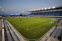 SAN JOSE, CA - SEPTEMBER 19: qs\ before a game between Portland Timbers and San Jose Earthquakes at Earthquakes Stadium on September 19, 2020 in San Jose, California.
