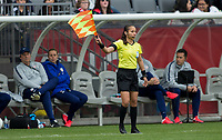 CARSON, CA - FEBRUARY 9: AR Enedina Gomez during a game between Canada and USWNT at Dignity Health Sports Park on February 9, 2020 in Carson, California.