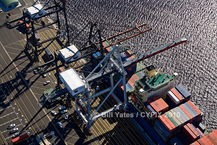 Hyundai Forward TraPac Container Terminal Port of Jacksonville helicopter aerial