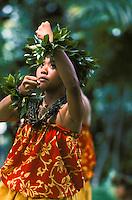 Performer at Prince Lot Hula Festival
