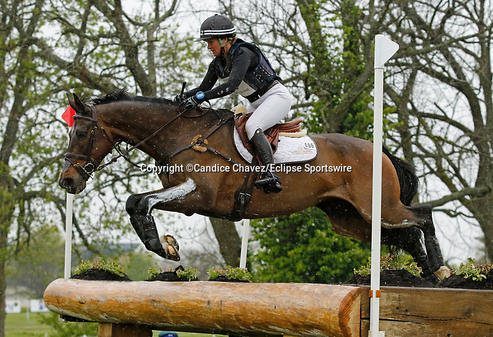 April 24, 2021: #66 Grovine De Reve and rider Jonelle Pricein the Cross Country test at the Land Rover Three Day Event at the Kentucky Horse Park in Lexington, KY on April 24, 2021.  Candice Chavez/ESW/CSM