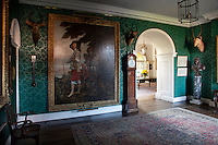 King Charles I of England out Hunting, c. 1635 by Sir Anthony Van Dyke hangs in the entrance hall across the way from a bronze bust, also of Charles i