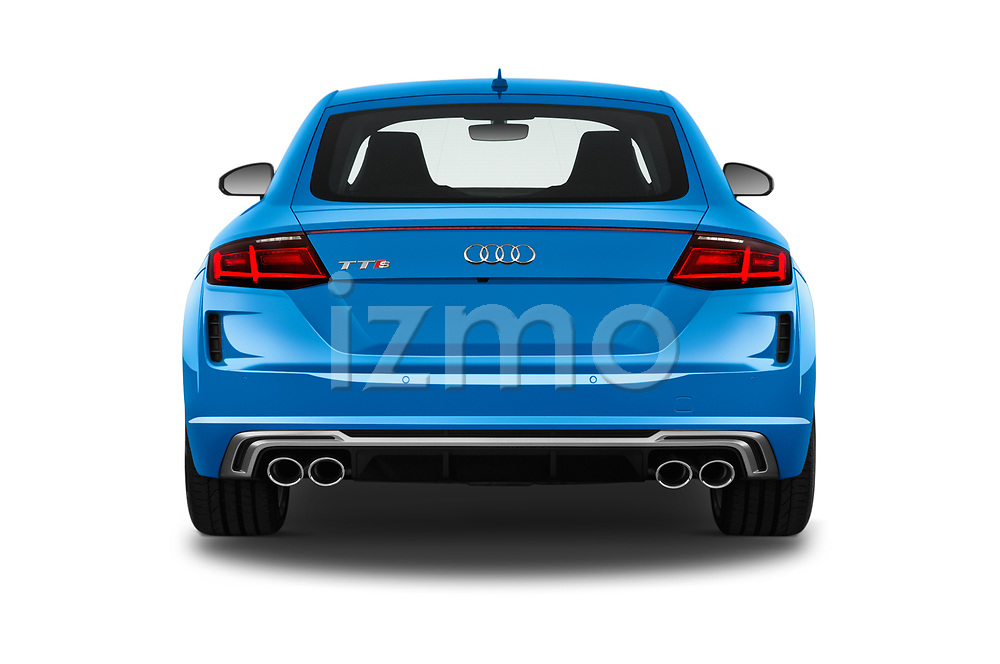 Straight rear view of a 2019 Audi TTS-Coupe Base 3 Door Coupe