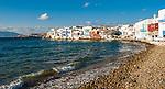 Little Venice in Mykonos Town on the island of Mykonos in Greece.