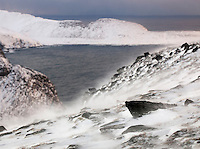 The landscape at North Cape (Nordkapp), often described as the most northerly point in Europe, in northern Norway