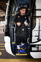 Photo: Richard Lane/Richard Lane Photography. London Wasps depart for Abu Dhabi for their LV= Cup game against Harlequins on 30st January 2011. 25/01/2011. London Wasps' Billy Vunipola departs for Abu Dhabi at Heathrow airport.