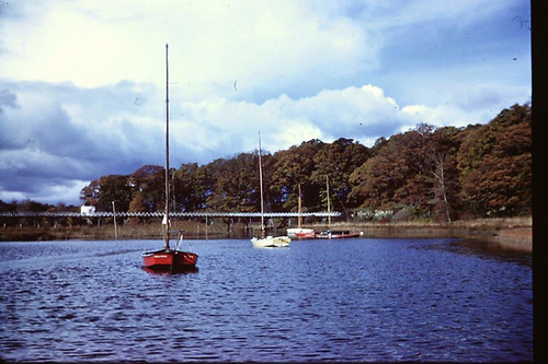 On moorings at Crom, Valkyria in foreground with Ranger centre courtesy Johnny Madden