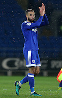 Jazz Richards of Cardiff City after the final whistle of the Sky Bet Championship match between Cardiff City and Preston North End at Cardiff City Stadium, Wales, UK. Tuesday 31 January 2017