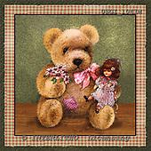 GIORDANO, CUTE ANIMALS, LUSTIGE TIERE, ANIMALITOS DIVERTIDOS, Teddies, paintings+++++,USGI1041M,#AC# teddy bears