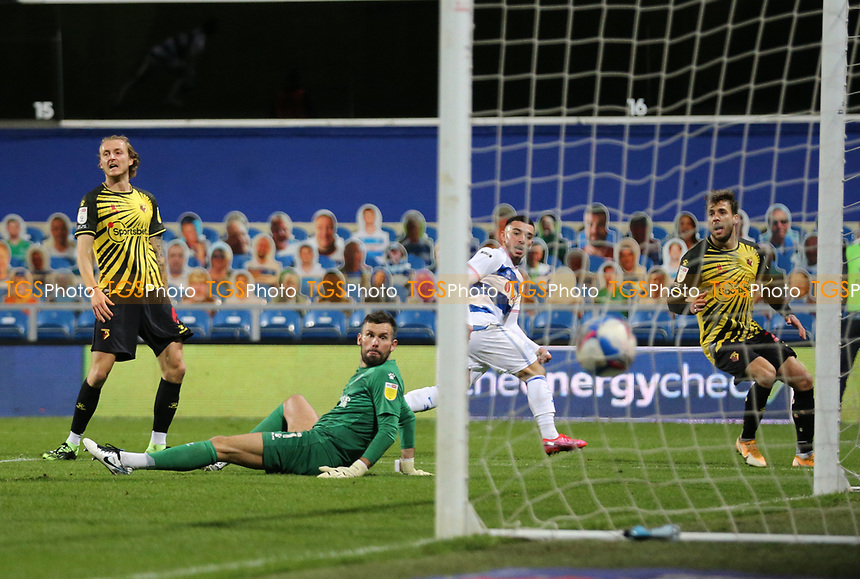 first goal scored for Queens Park Rangers by Ilias Chair of Queens Park Rangers during Queens Park Rangers vs Watford, Sky Bet EFL Championship Football at The Kiyan Prince Foundation Stadium on 21st November 2020
