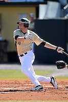 Central Florida Knights infielder Tommy Williams (14) during a game against the Siena Saints at Jay Bergman Field on February 16, 2014 in Orlando, Florida.  UCF defeated Siena 9-6.  (Mike Janes/Four Seam Images)