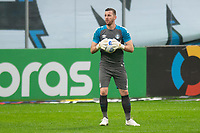 2nd June 2021; Arena do Gremio, Porto Alegre, Brazil; Copa Do Brazil, Gremio versus Brasiliense; Goalkeeper Paulo Victor of Gremio looks for a long outlet