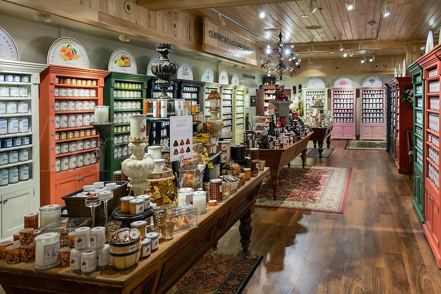 Kringle Candle Company factory store, Bernardston, Massachusetts, USA