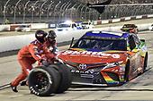 Bojangles' Southern 500<br /> Darlington Raceway, Darlington, SC USA<br /> #18: Kyle Busch, Joe Gibbs Racing, Toyota Camry Skittles 1998 Retro, makes a pit stop.