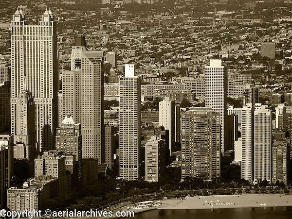 aerial photograph residential towers Chicago, Illinois