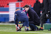 9th January 2021, Paris, France; French League 1 football, St. Germain versus Stade Brest;  New PSG coach c speaks with KYLIAN MBAPPE PSG
