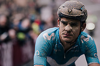 Andrey Amador (CRI/Movistar) after rolling in (at the finish)<br /> <br /> 12th Strade Bianche 2018<br /> Siena > Siena: 184km (ITALY)