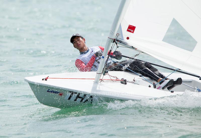 ThailandLaser RadialMenHelmTHACP5ChusittPunjamala<br /> <br /> 2015 Youth Sailing World Championships,<br /> Langkawi, Malaysia