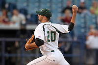 """University of South Florida Kevin Quackenbush #20 during a game vs. the Miami Hurricanes in the """"Florida Four"""" at George M. Steinbrenner Field in Tampa, Florida;  March 1, 2011.  USF defeated Miami 4-2.  Photo By Mike Janes/Four Seam Images"""
