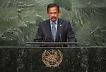 His Majesty Hassanal Bolkiah, Sultan and Yang Di Pertuan of Negara Brunei Darussalam<br /> <br /> <br /> 6th plenary meeting High-level plenary meeting of the General Assembly (3rd meeting)