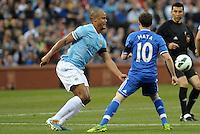 Vincent Kompany (4) Manchester City, Juan Mata (10) Chelsea..Manchester City defeated Chelsea 4-3 in an international friendly at Busch Stadium, St Louis, Missouri.