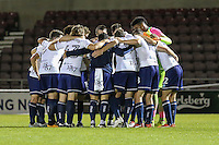 The Wycombe Wanderers team following victory in The Checkatrade Trophy match between Northampton Town and Wycombe Wanderers at Sixfields Stadium, Northampton, England on 30 August 2016. Photo by David Horn / PRiME Media Images.
