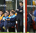 31/10/2009  Copyright  Pic : James Stewart.sct_jspa18_motherwell_v_hearts  . :: HEARTS MANAGER CSABA LASZLO DURING THE GAME AGAINST MOTHERWELL :: .James Stewart Photography 19 Carronlea Drive, Falkirk. FK2 8DN      Vat Reg No. 607 6932 25.Telephone      : +44 (0)1324 570291 .Mobile              : +44 (0)7721 416997.E-mail  :  jim@jspa.co.uk.If you require further information then contact Jim Stewart on any of the numbers above.........