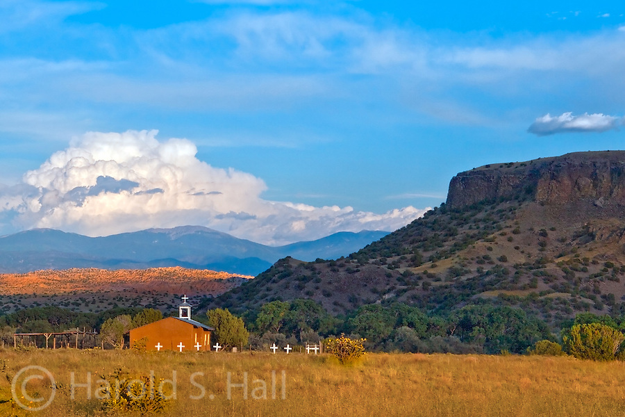 Black Mesa is a well known landmark in the San Ildefonso Pueblo in northern New Mexico.