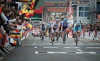 Liège-Bastogne-Liège 2013..sprint for 6th place: Enrico Gasparotto (ITA) outsprints Philippe Gilbert (BEL) & Ryder Hesjedal (CAN).