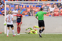 Houston, TX - Sunday Oct. 09, 2016: Sabrina D'Angelo during the National Women's Soccer League (NWSL) Championship match between the Washington Spirit and the Western New York Flash at BBVA Compass Stadium. The Western New York Flash win 3-2 on penalty kicks after playing to a 2-2 tie.