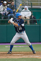 April 27, 2008: UCLA's Casey Haerther at bat against the University of Washington at Husky Ballpark in Seattle, Washington.