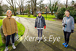 Enjoying the Tralee town park on Thursday, l to r: Niamh O'Carroll, Marguerite Brosnan and Mandy Hudson.