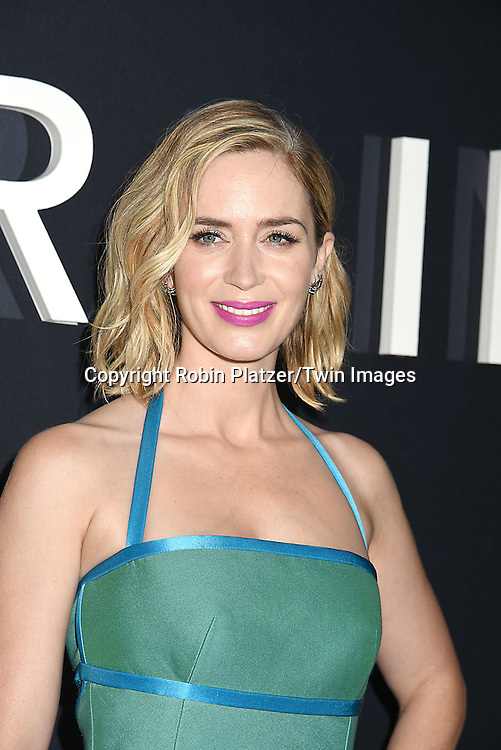 """actress Emily Blunt  attend """"The Girl on the Train"""" New York Premiere on October 4, 2016 at Regal E-Walk Stadium 13 & RPX  in New York,New York,  USA.<br /> <br /> photo by Robin Platzer/Twin Images<br />  <br /> phone number 212-935-0770"""