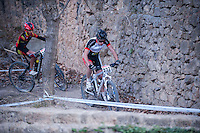 Chelva, SPAIN - MARCH 6: Roi Dominguez, Ivan Bautista during Spanish Open BTT XCO on March 6, 2016 in Chelva, Spain