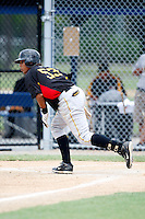 July 13, 2009:  Catcher Jairo Marquez of the GCL Pirates during a game at Tiger Town in Lakeland, FL.  The GCL Pirates are the Gulf Coast Rookie League affiliate of the Pittsburgh Pirates.  Photo By Mike Janes/Four Seam Images