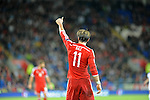 UEFA European Championship at Cardiff City Stadium - Wales v Cyprus : <br /> Gareth Bale of Wales gives a thumbs up to his team mates during the game.