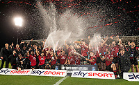 The Crusaders celebrate winning the 2021 Super Rugby Aotearoa final between the Crusaders and Chiefs at Orangetheory Stadium in Christchurch, New Zealand on Saturday, 8 May 2021. Photo: Joe Johnson / lintottphoto.co.nz