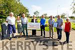 Austin Stack GAA Club receive the sum of €3,452 from their recent Billy Ryle fundraising walk.  L to r: Tim Guiheen, Carmel and Martin O'Regan, Mairead Fernane, Neill Shanahan, Denis O'Regan, Billy Ryle and Liz O'Regan.