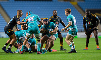 21st August 2020; Ricoh Arena, Coventry, West Midlands, England; English Gallagher Premiership Rugby, Wasps versus Worcester Warriors; Beck Cutting of Worcester Warriors turns with the ball