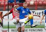 Hamilton Accies v St Johnstone….18.05.19      New Douglas Park        SPFL<br />Brian Easton and Marios Ogkmpoe<br />Picture by Graeme Hart. <br />Copyright Perthshire Picture Agency<br />Tel: 01738 623350  Mobile: 07990 594431
