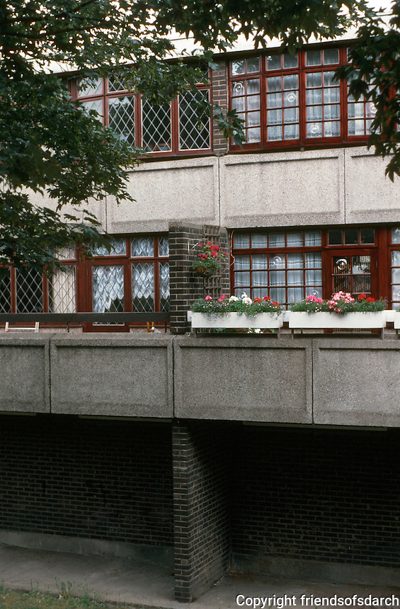 London:  Council Housing--Glamis Estate, off the highway, Wapping.  Photo '90.
