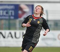 UEFA Women's Under 17 Championship - Second Qualifying round - group 1 : Switzerland - Belgium  : .Silke Leynen.foto DAVID CATRY / Vrouwenteam.be